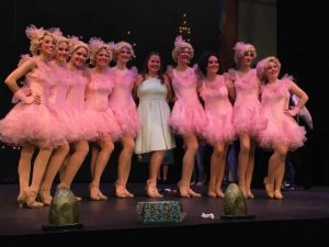 Center, pictured as the Choreographer with my line of Follies Girls